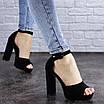 Женские босоножки на каблуке черные Foster 1975 (40 размер), фото 3