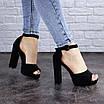 Женские босоножки на каблуке черные Foster 1975 (40 размер), фото 4