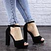 Женские босоножки на каблуке черные Foster 1975 (40 размер), фото 5