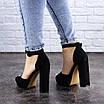 Женские босоножки на каблуке черные Foster 1975 (40 размер), фото 6
