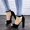 Женские босоножки на каблуке черные Foster 1975 (40 размер), фото 7