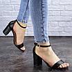 Женские босоножки на каблуке черные Hogie 1976 (39 размер), фото 3