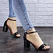 Женские босоножки на каблуке черные Hogie 1976 (39 размер), фото 4