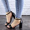 Женские босоножки на каблуке черные Hogie 1976 (39 размер), фото 5