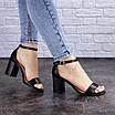 Женские босоножки на каблуке черные Hogie 1976 (39 размер), фото 6