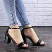 Женские босоножки на каблуке черные Hogie 1976 (39 размер), фото 7