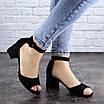 Женские босоножки на каблуке черные Kacey 1971 (36 размер), фото 2