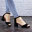 Женские босоножки на каблуке черные Kacey 1971 (36 размер), фото 5
