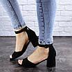 Женские босоножки на каблуке черные Kacey 1971 (36 размер), фото 6