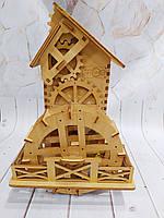 Заготовка деревянная для декупажа Чайный домик с мельницей (вращаеться)