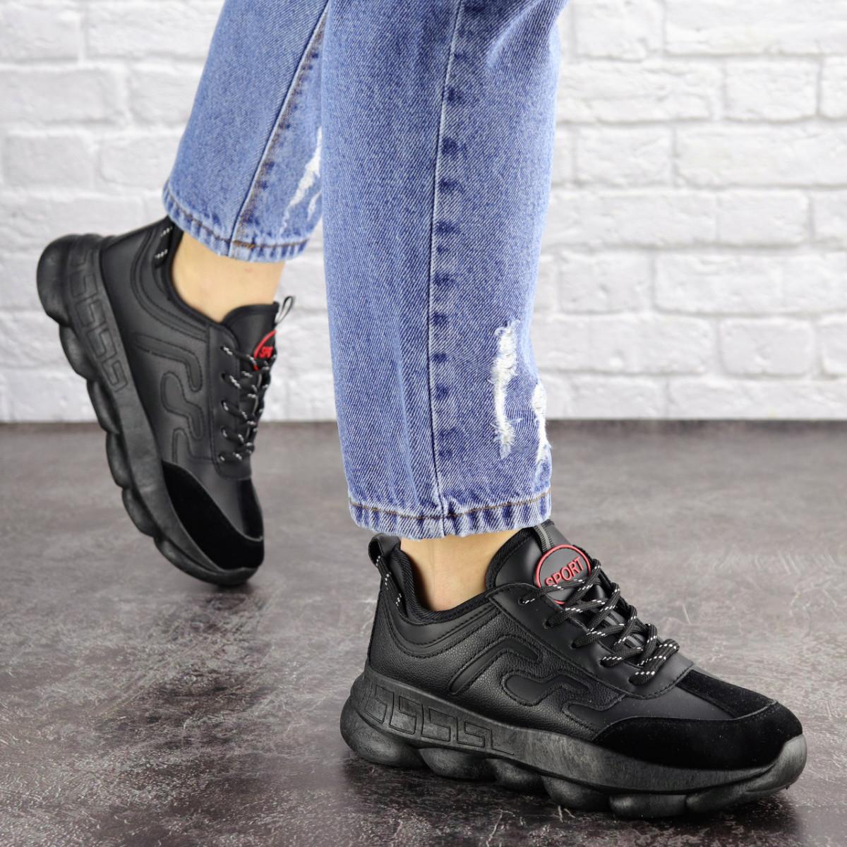 Женские черные кроссовки Huffer 1663 (38 размер)