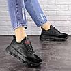 Женские черные кроссовки Huffer 1663 (38 размер), фото 2