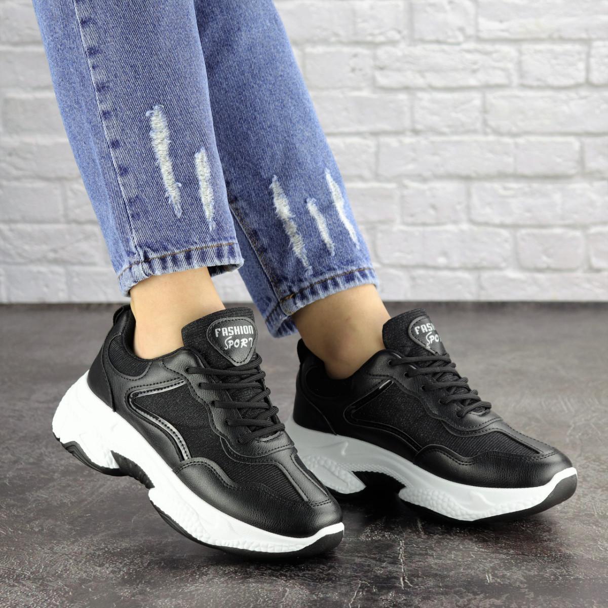 Женские черные кроссовки Noble 1672 (37 размер)