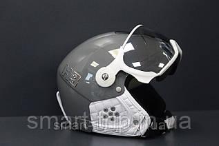 Шлем горнолыжный с визором HMR  Colori H3 Grigio Grey M/S  017