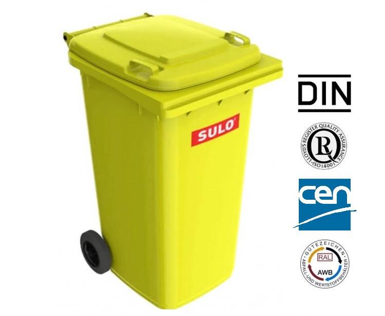Контейнер для сміття жовтий sulo en-840-1/ 240 л