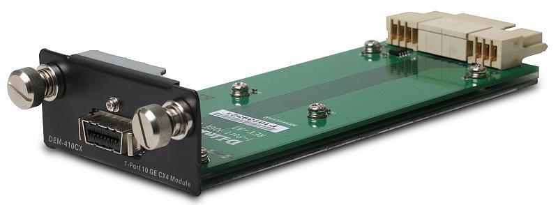 D-Link DEM-410CX Модуль для коммутаторов DGS-3400 и DGS-3600 с 1 портом 10GBase-CX4
