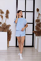 Женская пижама (футболка + шорты)