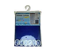 Штора для ванной тканевая Shower Curtain синяя 180x180см, фото 1