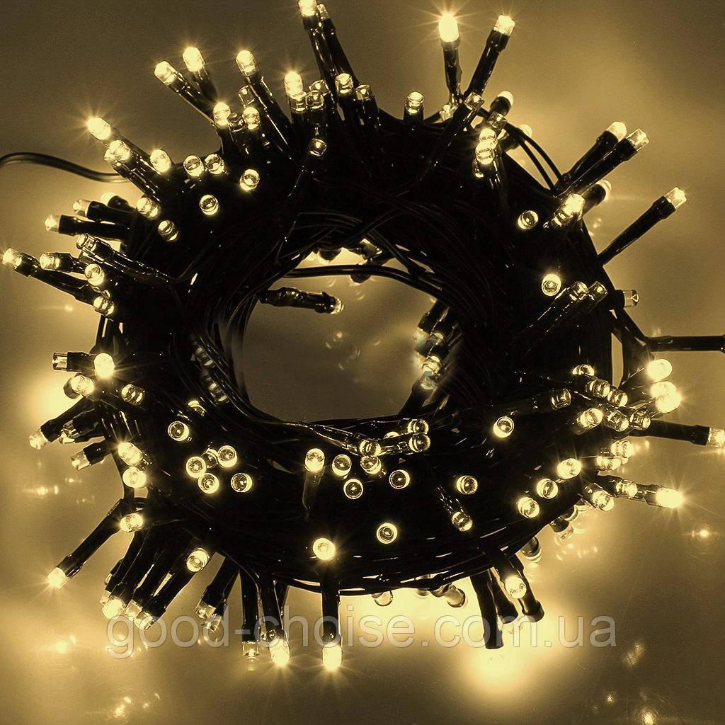 Гирлянда светодиодная на 100 LED теплый белый