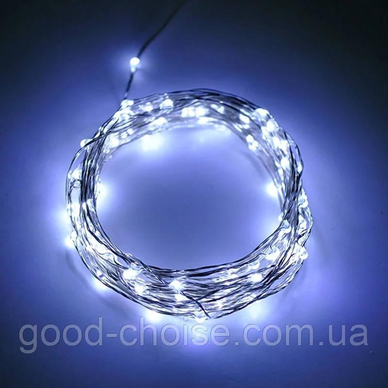 Гирлянда проволока капли росы 100 LED с разными режимами