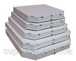 Коробка під піцу, 250X250X33 мм, Т22Е біла СД03-51