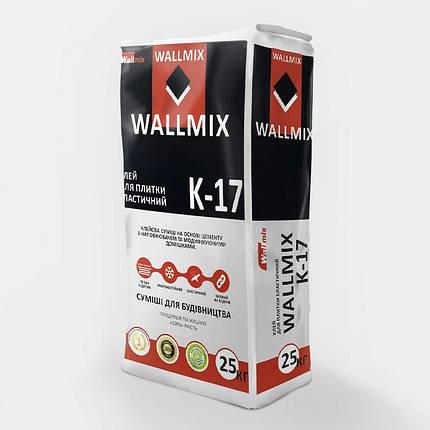 Wallmix K-17 Клей для плитки еластичний 25кг, фото 2