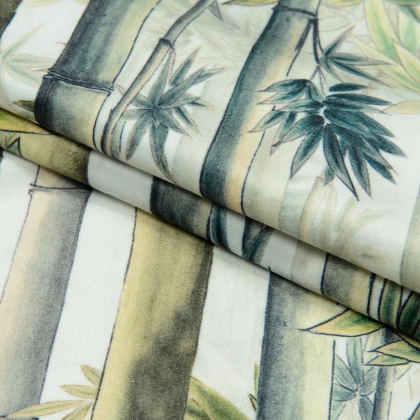 Ткань для мебели велюр принт Бамбук