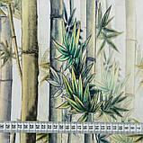 Ткань для мебели велюр принт Бамбук, фото 3