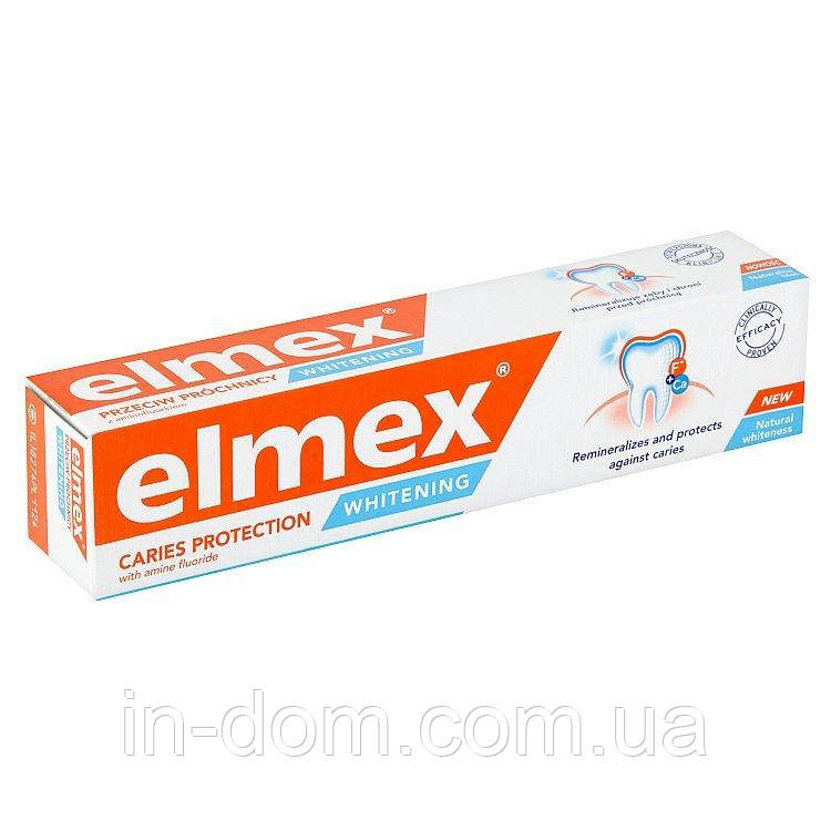 Elmex Caries Protection Whitening отбеливающая зубная паста 75 мл - Нидерланды