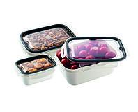 Набор 3-пр.контейнеров пищевой PREMIUM прямоугольных UCSAN plastik Турция ( 0,45 Л + 1 Л + 2 Л) . M-1368