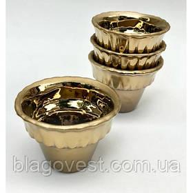Керамічна чашка мала (окантовка золото)