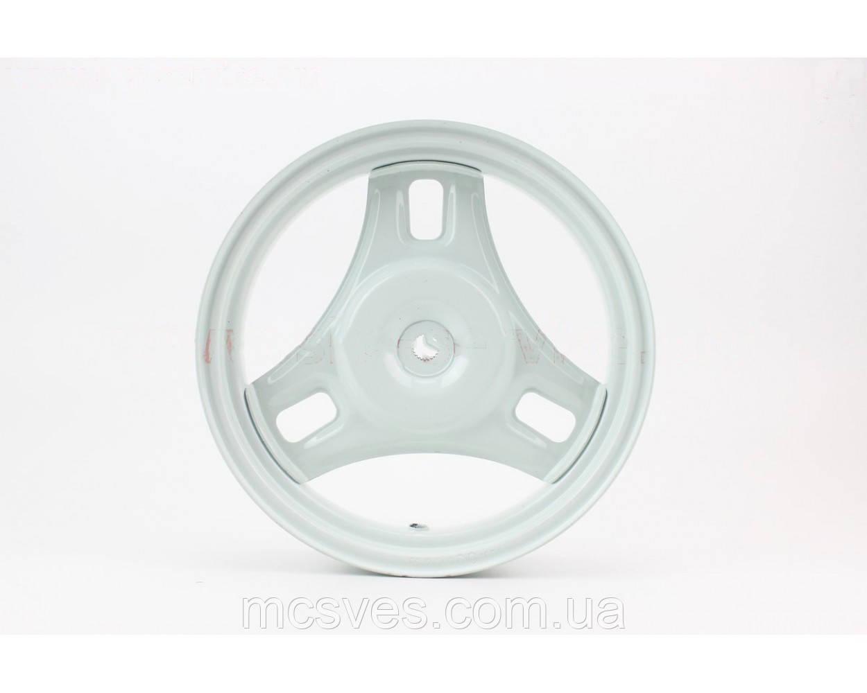 (Китай) Диск колесный задний Honda DIO (стальной) белый