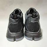 Зимние мужские кроссовки из натуральной кожи теплые ботинки на меху Черные, фото 7