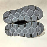Зимние мужские кроссовки из натуральной кожи теплые ботинки на меху Черные, фото 8