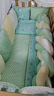 """Детское постельное белье в кроватку """"Коса"""", набор в детскую кроватку """"Зефирка"""" 2212310600131"""