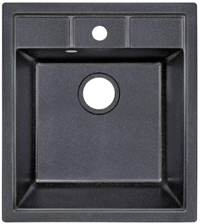 Кухонные мойки Lidz Кухонная мойка Lidz (BLM-14) 460x515/200 черная матовая