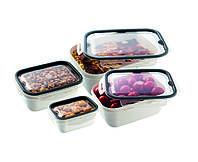 Набор 4-пр.контейнеров пищевой PREMIUM прямоугольный UCSAN plastik Турция( 0,45л.+ 1л. + 2 л.+4л.)M-1369