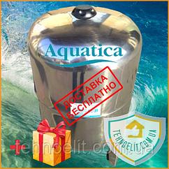 Гидроаккумулятор из нержавейки 50 литров вертикальный Aquatica 779113 с нержавеющим фланцем