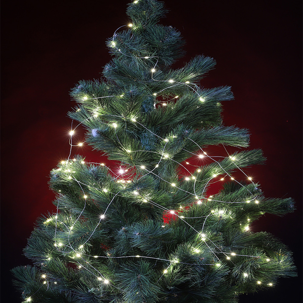 Гирлянда новогодняя на медной проволоке Xmas Капля росы 2 метра 10 нитей Белая