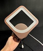 Современное светодиодное бра коричневый квадрат 9 ватт, фото 1