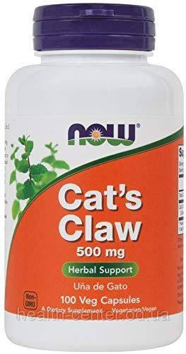 Кошачий коготь 100 капс 500 мг для иммунитета противовирусное противовоспалительное NOW Foods USA