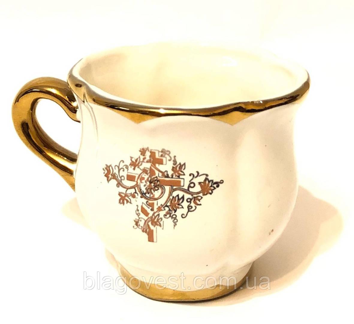 Д керам. чашка малая (окантовка золоченая)