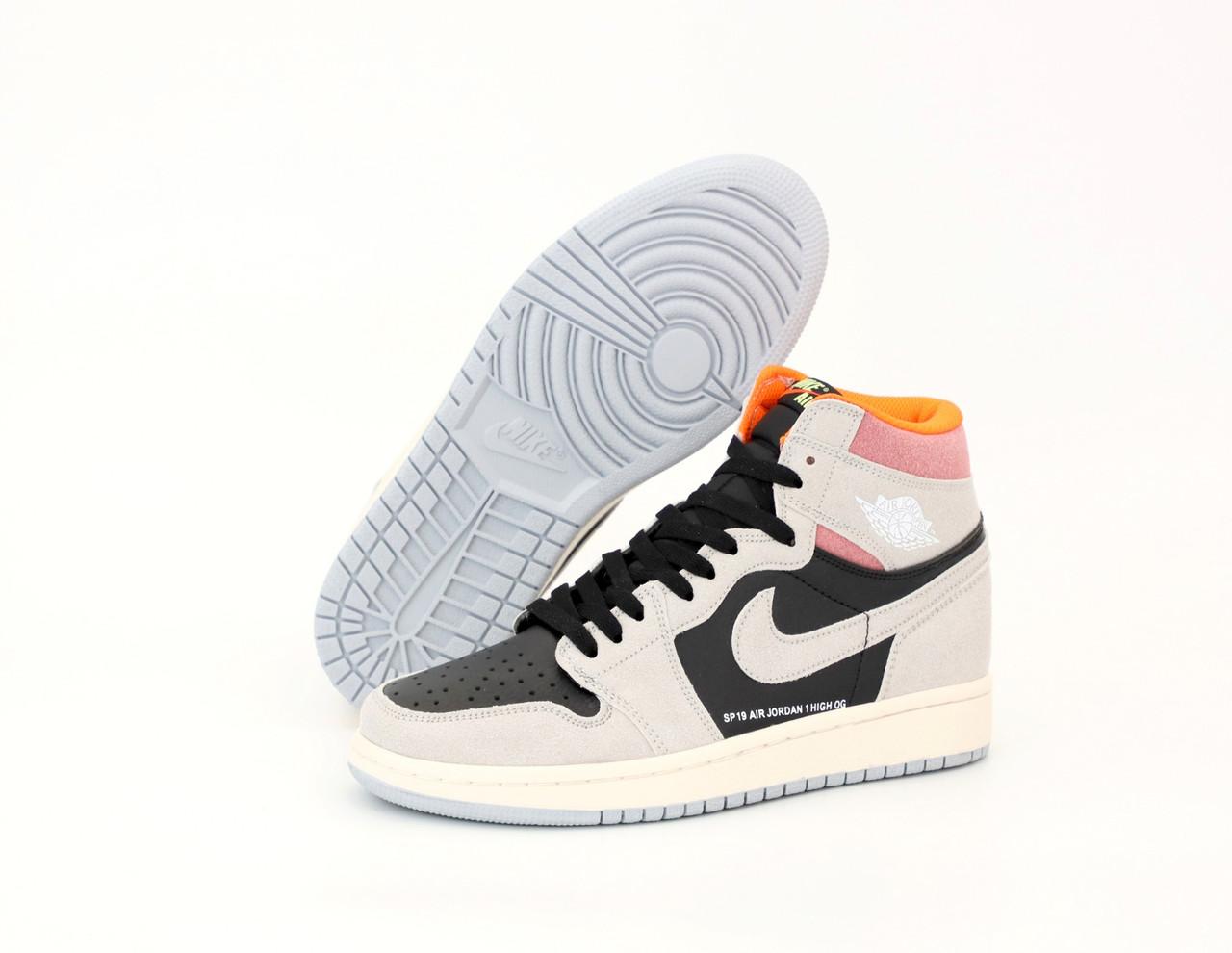 Мужские кроссовки Nike Air Jordan. White Black. ТОП Реплика ААА класса.