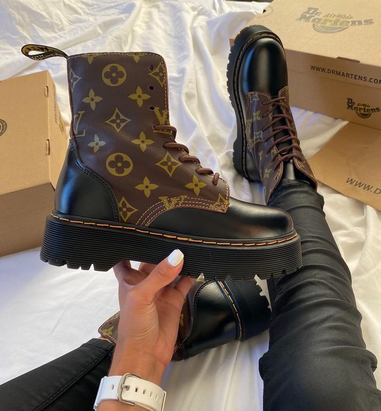 Женские ботинки Dr Martens LV в стиле доктор мартинс Черные (Реплика ААА+)