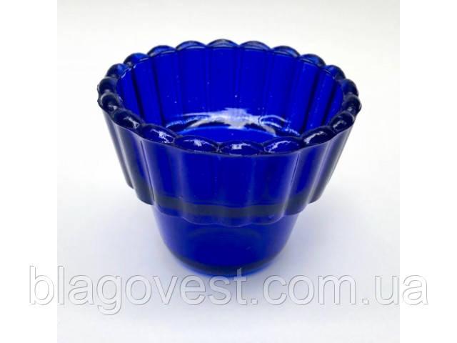 Стакан стекло зеленый, синий, красный, фиолетовый (высота 7см)