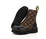 Женские ботинки Dr Martens LV в стиле доктор мартинс Черные (Реплика ААА+), фото 4