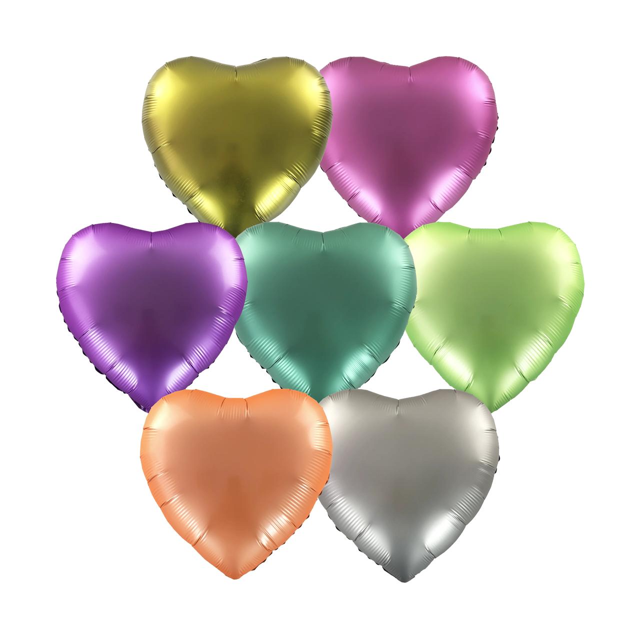 Фольгированные шары 18' Китай Сердце ассорти, 45 см