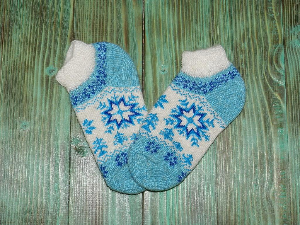 Укороченные носки из ангорской шерсти 21 см