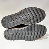 Зимние мужские ботинки из натуральной кожи теплые на меху Черные, фото 7