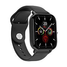 Умные часы NO.1 DT36 с пульсоксиметром и тонометром (Черный), фото 3